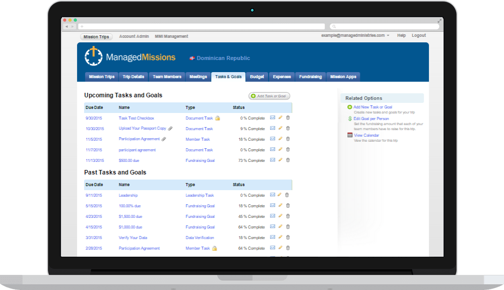 Managed Tasks & Documents